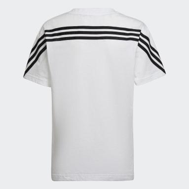 Kinder Sportswear Future Icons 3-Streifen T-Shirt Weiß