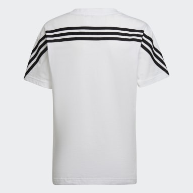 Youth 8-16 Years Sportswear White Future Icons 3-Stripes T-Shirt