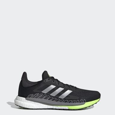 Men Running Black SolarGlide 3 Shoes