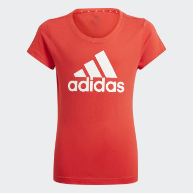 T-shirt adidas Essentials Rouge Filles Sportswear