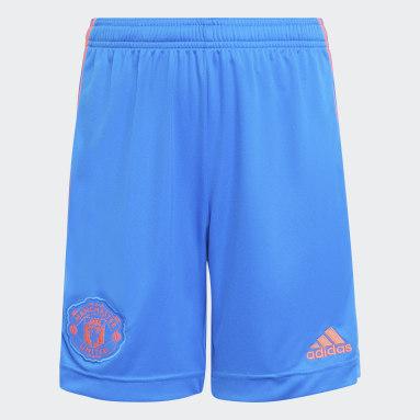 Kids Football Blue Manchester United 21/22 Away Shorts