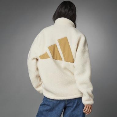 белый Утепленная куртка