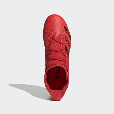 Kids Football Red Predator Freak.3 Firm Ground Boots