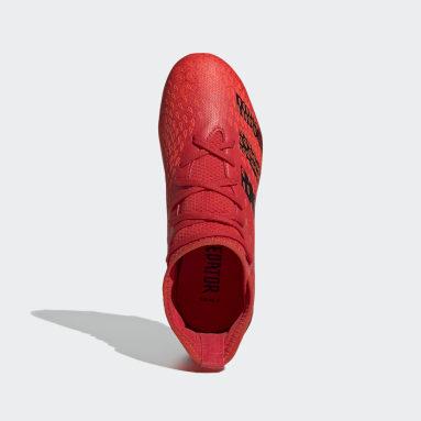 Zapatos de Fútbol Predator Freak.3 Terreno Firme Rojo Niño Fútbol