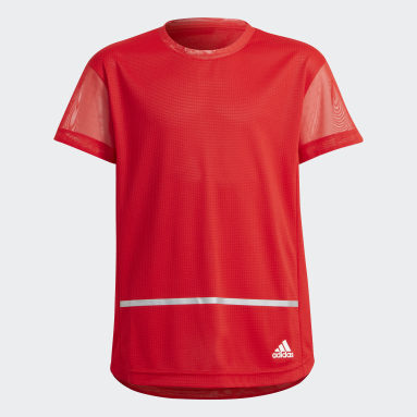 Youth 8-16 Years Gym & Training Red HEAT.RDY Primegreen T-Shirt