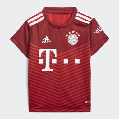 Kinder Fußball FC Bayern München 21/22 Mini-Heimausrüstung Rot