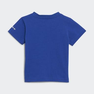 T-shirt Adicolor Azul Criança Originals