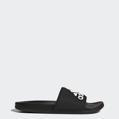 Plavání černá Pantofle adilette Comfort