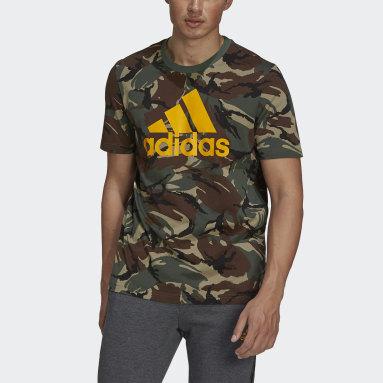 Muži Sportswear zelená Tričko Essentials Camouflage