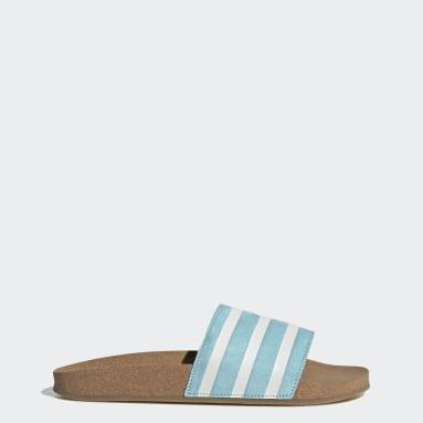 Ženy Originals modrá Pantofle adilette