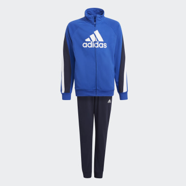 Boys Gym & Training Blue Colorblock Big Badge of Sport Track Suit