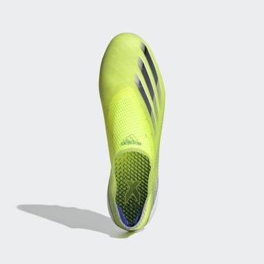 Men's Soccer Yellow X Ghosted+ Artificial Grass Cleats