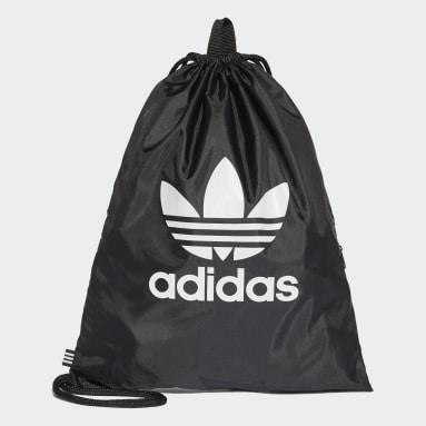 Sportowa torba-worek Trefoil Czerń