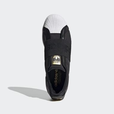 ผู้ชาย Originals สีดำ รองเท้า Superstar ทรงสลิปออน