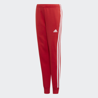 Boys Gym & Training Red Must Haves 3-Stripes Joggers