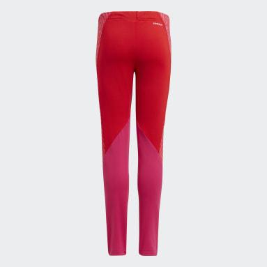 Girls Gym & Training Red Designed 2 Move Seasonal Leggings