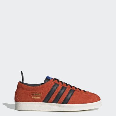 Men Originals Orange Gazelle Vintage Shoes