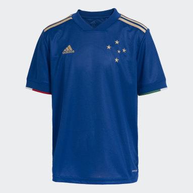 Camisa 1 Cruzeiro 20/21 Azul Meninos Futebol