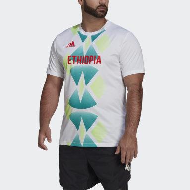 Men Gym & Training White Team Ethiopia HEAT.RDY Tee
