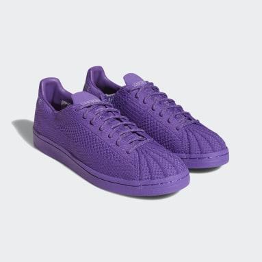 Originals Purple Pharrell Williams Superstar Primeknit Shoes