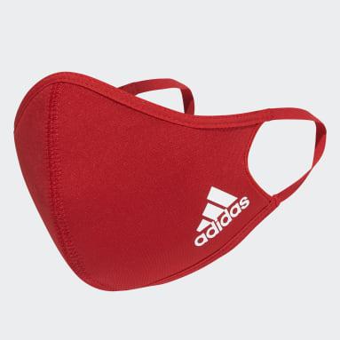 Fitness En Training Rood Mondkapje 3-Pack XS/S