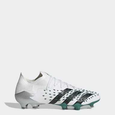 Football White Predator Freak.1 EQT Firm Ground Boots