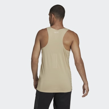 Camiseta sin mangas Parley Mission Kit Run for the Oceans Beige Hombre Sportswear