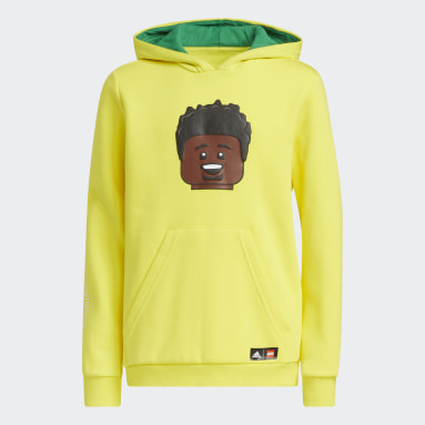 желтый Худи adidas x LEGO® Big Kids Donovan Mitchell