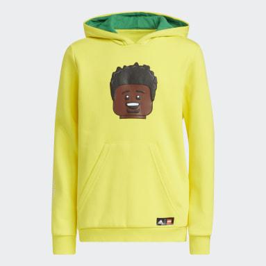Děti Basketbal žlutá Mikina adidas x LEGO® Donovan Mitchell