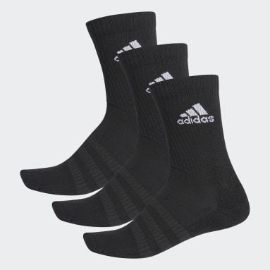 Trail Running Cushioned Crew Socken, 3 Paar Schwarz