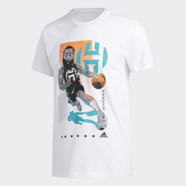 Men Basketball White Harden Drive Geek Up Tee