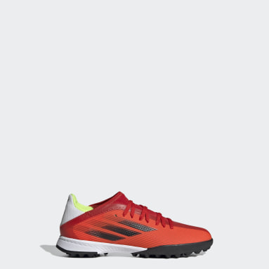 เด็ก ฟุตบอล สีแดง รองเท้าฟุตบอล X Speedflow.3 Turf