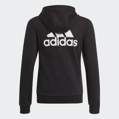 เด็กผู้หญิง ไลฟ์สไตล์ สีดำ เสื้อแทรคแจ็คเก็ต adidas Essentials