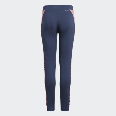 Girls Sportswear Blue adidas Designed To Move Leopard Leggings