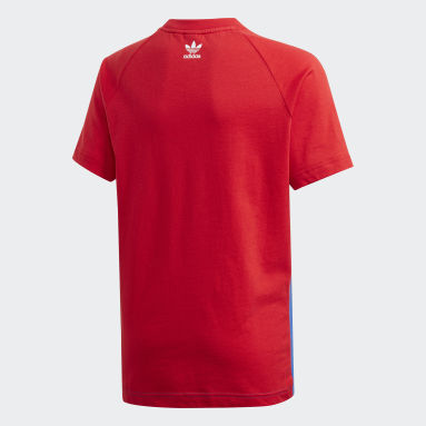 Youth Originals Red Large Trefoil Tee