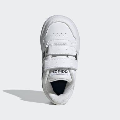Zapatillas Hoops 2.0 Blanco Niño Diseño Deportivo