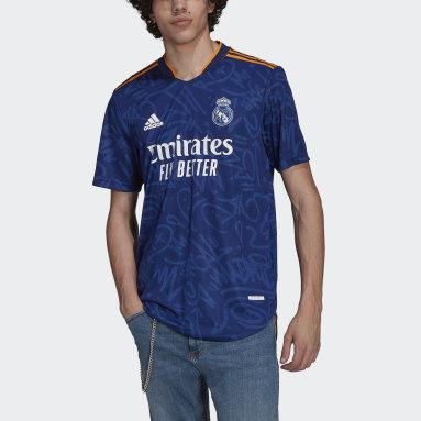 Heren Voetbal Blauw Real Madrid 21/22 Authentiek Uitshirt