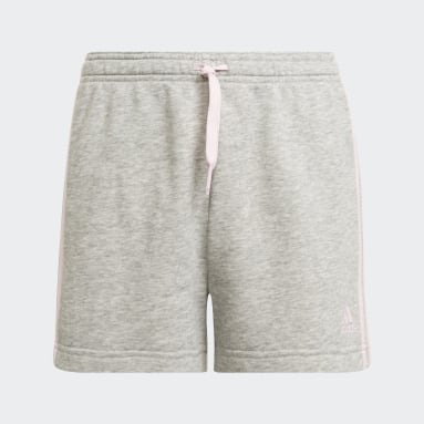 Girls Lifestyle Grey adidas Essentials 3-Stripes Shorts