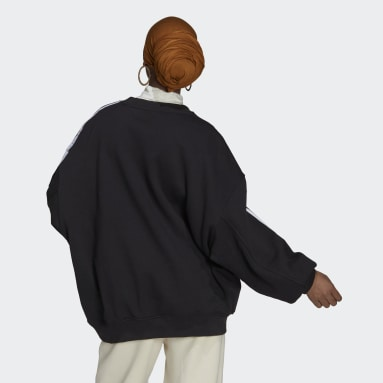 Women's Originals Black Adicolor Classics Oversized Sweatshirt