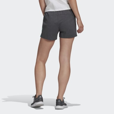 Women Sport Inspired Grey Essentials Slim 3-Stripes Shorts