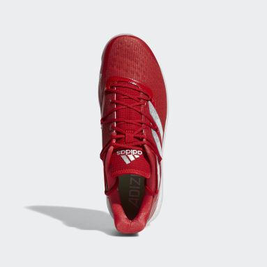 Men's Baseball Red Adizero Afterburner 8 Turf Shoes