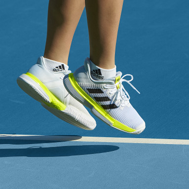 Women's Tennis White SoleMatch Bounce Tennis Shoes