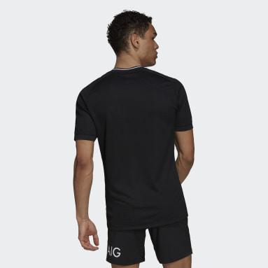 Muži Ragby černá Domácí dres All Blacks Primeblue Replica