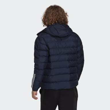 Men City Outdoor Blue Itavic 3-Stripes Midweight Hooded Jacket