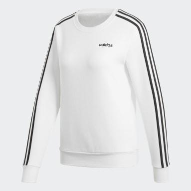 Sweat-shirt Essentials 3-Stripes blanc Femmes Essentials