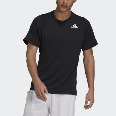 Men Tennis Black Tennis Freelift T-Shirt