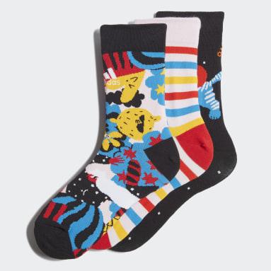 เด็ก เทรนนิง หลากสี ถุงเท้ากีฬาพิมพ์ลาย Egle (3 คู่)