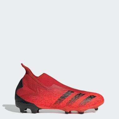 ผู้ชาย ฟุตบอล สีแดง รองเท้าฟุตบอล Predator Freak.3 Laceless Firm Ground