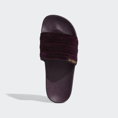 Women's Originals Burgundy Adilette Slides