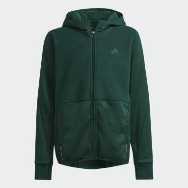 Felpa con cappuccio Designed to Move Fleece (Neutral) Verde Bambini Fitness & Training